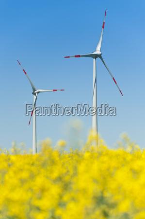 turbinas de vento em um campo