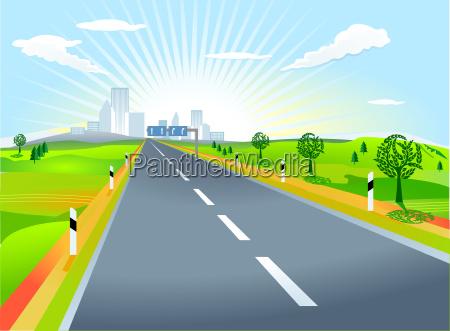 paisagem com rua