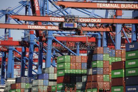 navio porta contentores porto hamburgo portas