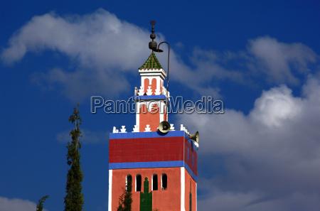 marrakesch marokko minarett moschee islam moslem