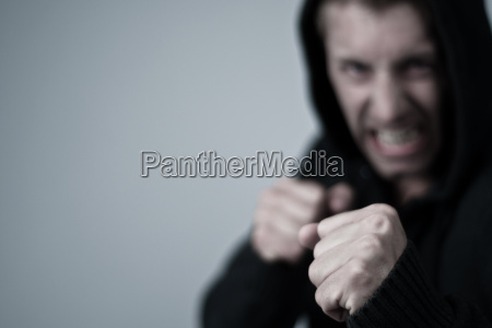 punho medo boxer autoconfiante confiante boxe