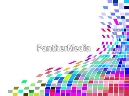 grafico colorido colagem abstrato quadrados mosaico