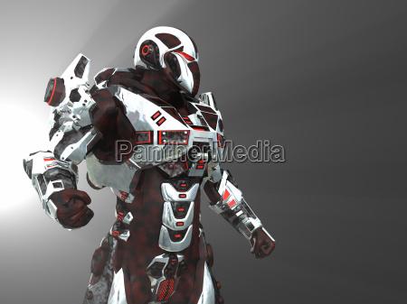 robo de batalha futurista