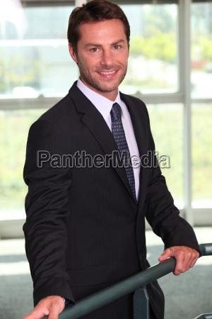 smart smiling male executive