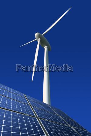 modulos solares e roda de poder