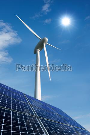 modulos solares e roda do poder