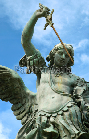 statue of st michael in rome
