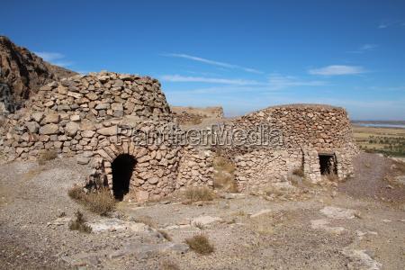 casa construcao pedra europa espanha rocha