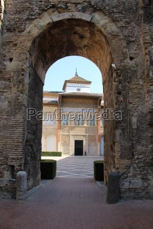 espanha em andaluzia palacio sevilha