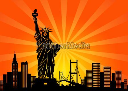 skyline da cidade de new york