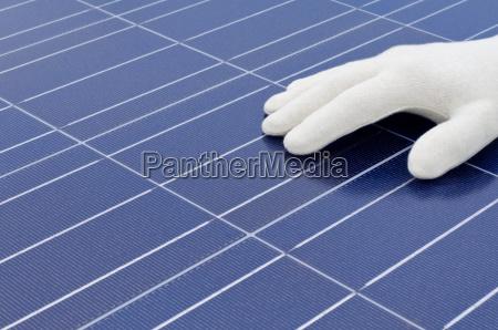controle mao celula solar luvas de