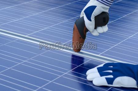 instalacao de modulos solares