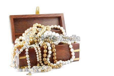 caixa de joias em branco