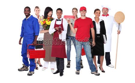 trabalhadores bem sucedidos