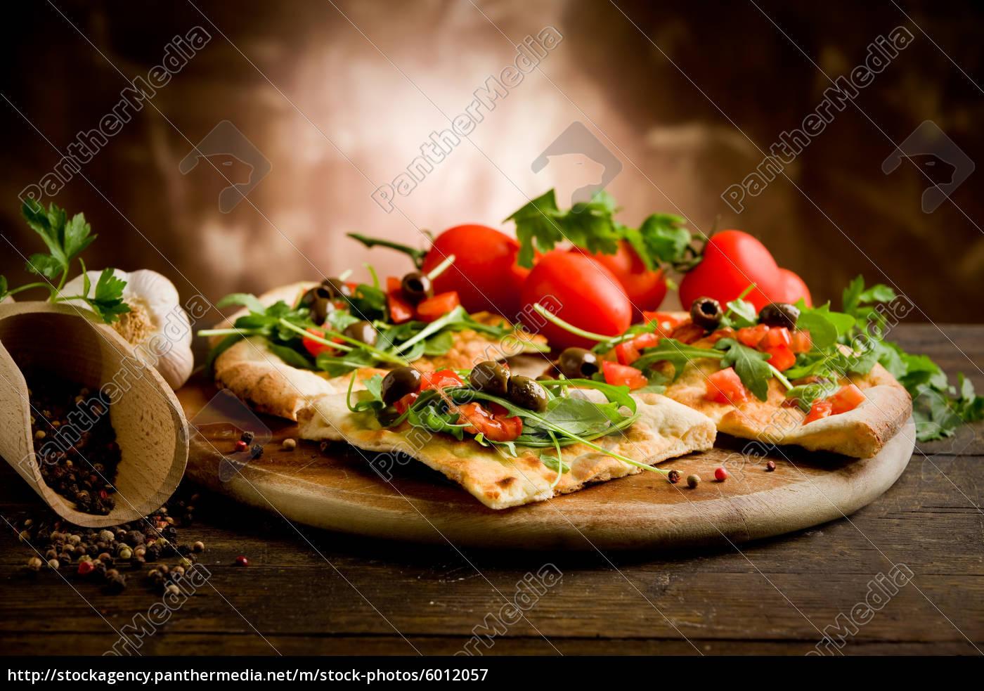 pizza, vegetariana - 6012057