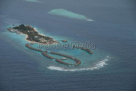 island maldives aerial view