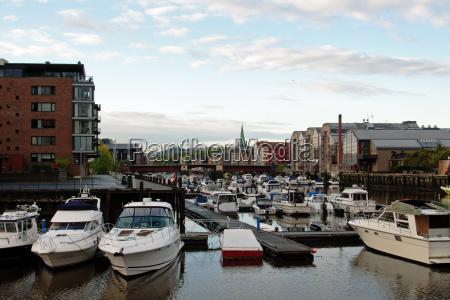 azul porto noruega portas iate lancha