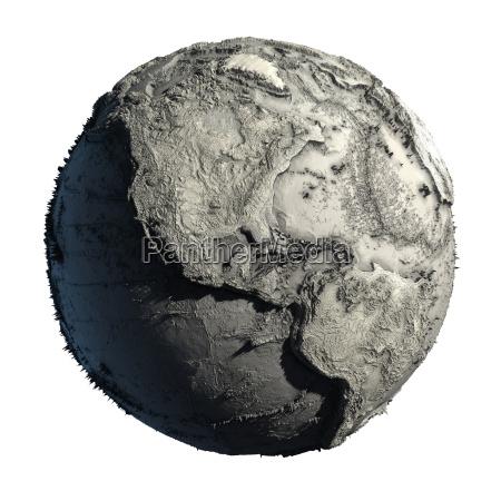 terra inoperante do planeta