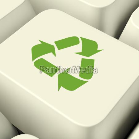 reciclar chave de computador icone em