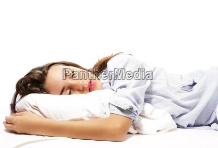 mulher de sono bonita de pijama