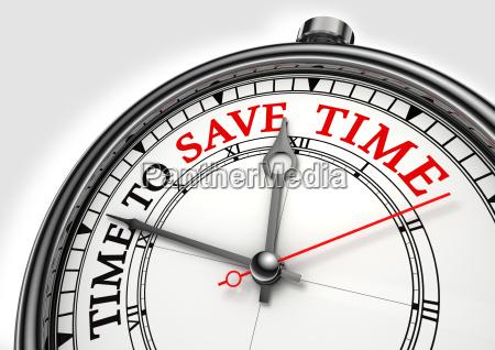 tempo para economizar tempo conceito relogio