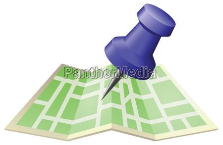 ilustracao de um mapa de rua
