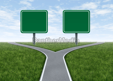 duas opcoes com sinais de estrada