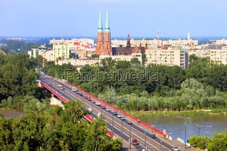 cidade ponte linha do horizonte polonia