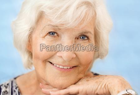 senior retrato close up