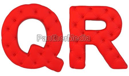 fonte de couro vermelho luxuoso q