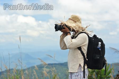 turismo masculino turista um homem