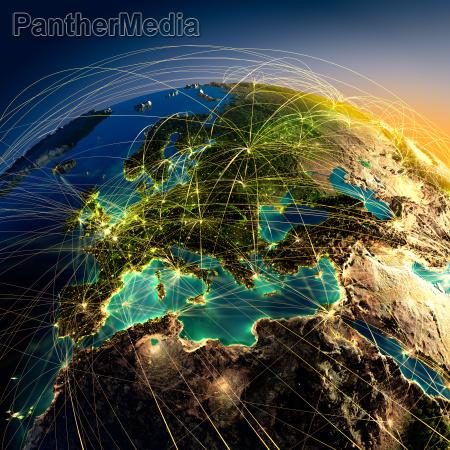 principais rotas aereas na europa