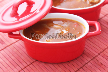 alimento vegetal paprica pimentas goulash sopa