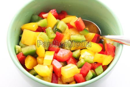 alimento vegetal paprica pimentas lanche salada