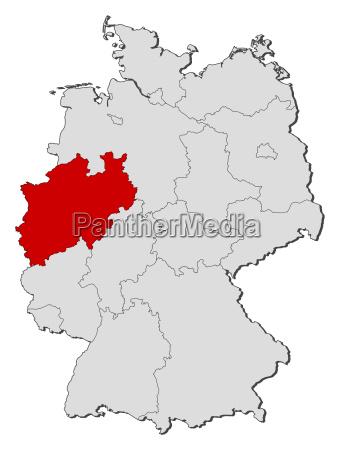 map of germany north rhine westphalia