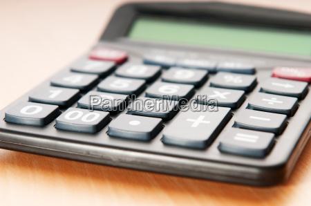negocio conceito contabilidade calculadora