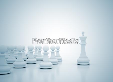 conceito rei lideranca chess