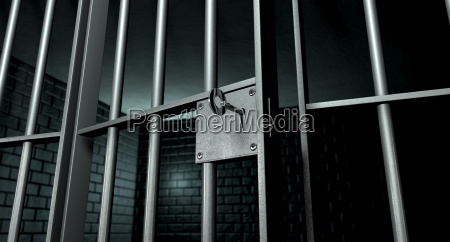 jail celular com a porta aberta