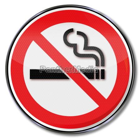 proibicao do fumo do sinal da