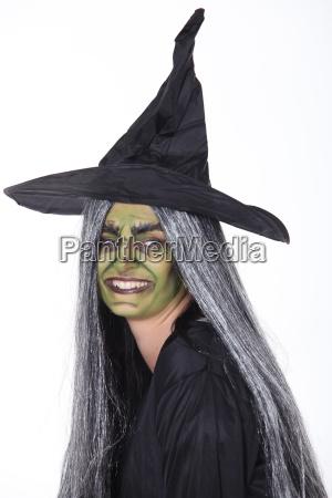 mulher vestido cima bruxa