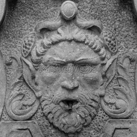 detalhe arte estatua vintage fantasia ornamento