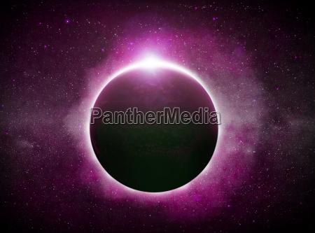 eclipse sobre o planeta terra