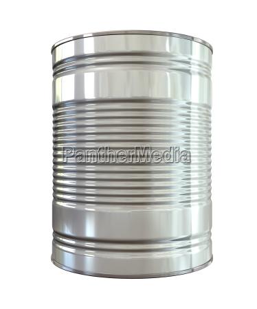 liberado metal isolado brilhante pode aluminio