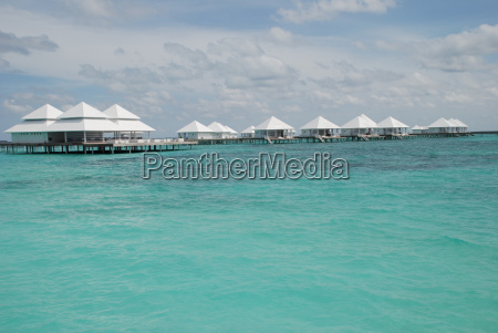 maldives water bungalow and turquoise indian
