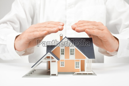 proteger casa conceito de seguro