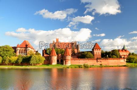 castelo de malbork na regiao pomerania