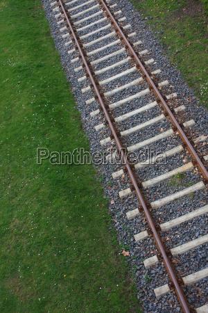 tracks rail diagonal traffic transportation rail
