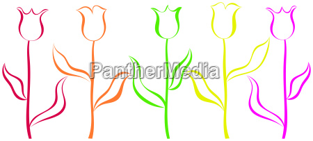 sinal jardim grafico flor planta colorido