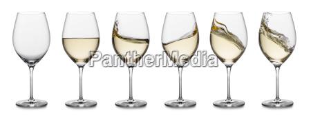 colecao do respingo do vinho branco