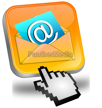 e mail button with cursor